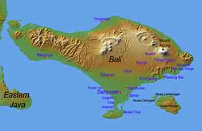 Geograhie von Bali - Indonesien