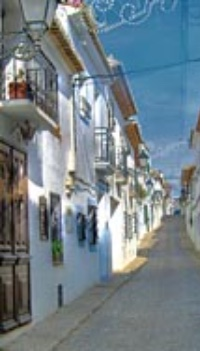 Straat in Altea