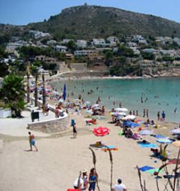 Strand van Moraira