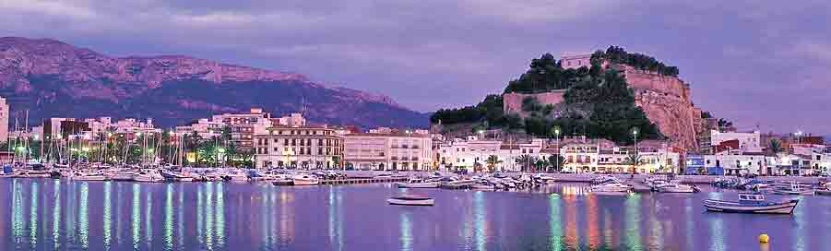 View of Denia, Costa Blanca, Spain