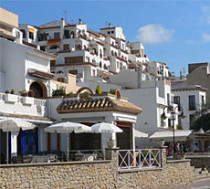 Houses in the port of Moraira