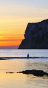 Le coucher de soleil à Javea