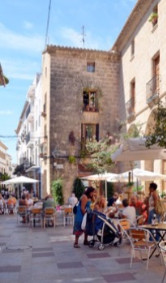 Javea town next to the markethall