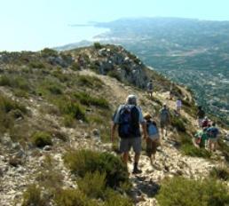 Wandern auf dem Berg Montgo